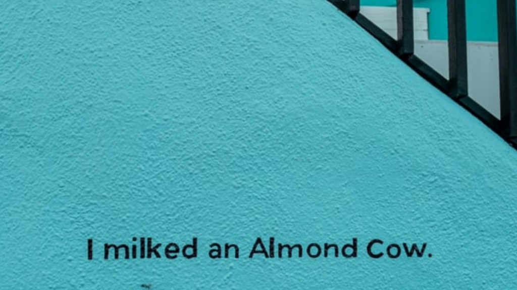 i milked an almond cow joke vegan plant-based and WFPB diets