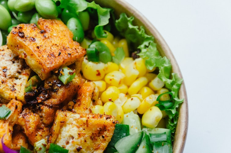 tofu vegan salad