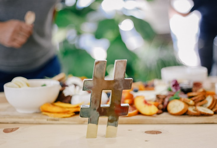 hashtag on table of food - why fitspo is just as harmful as pro-ana and pro-mia