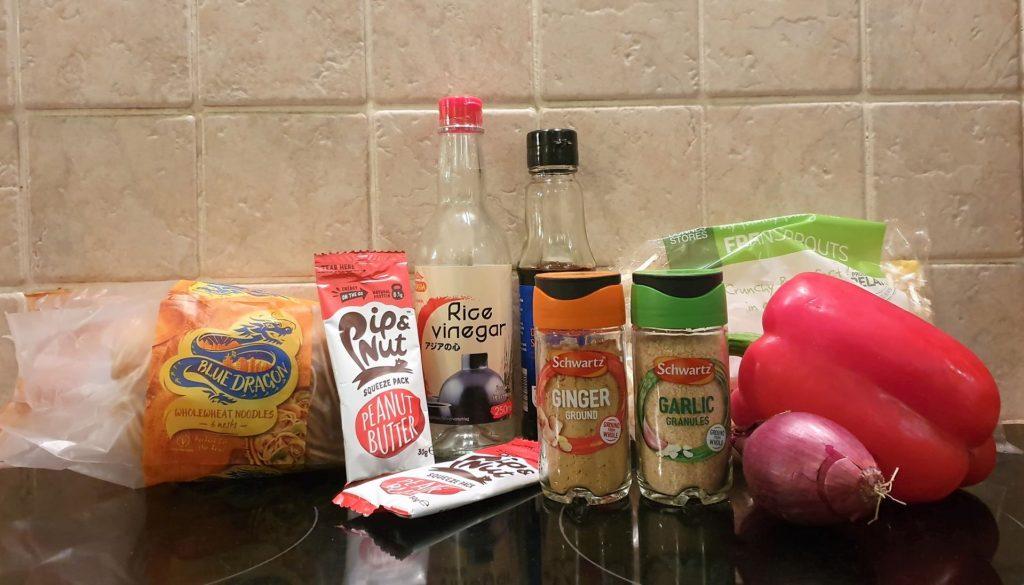 vegan satay noodles ingredients