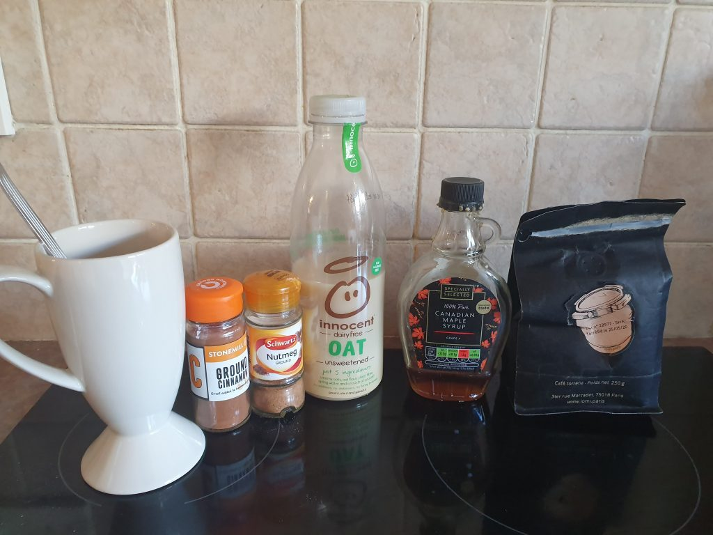 ingredients for latte
