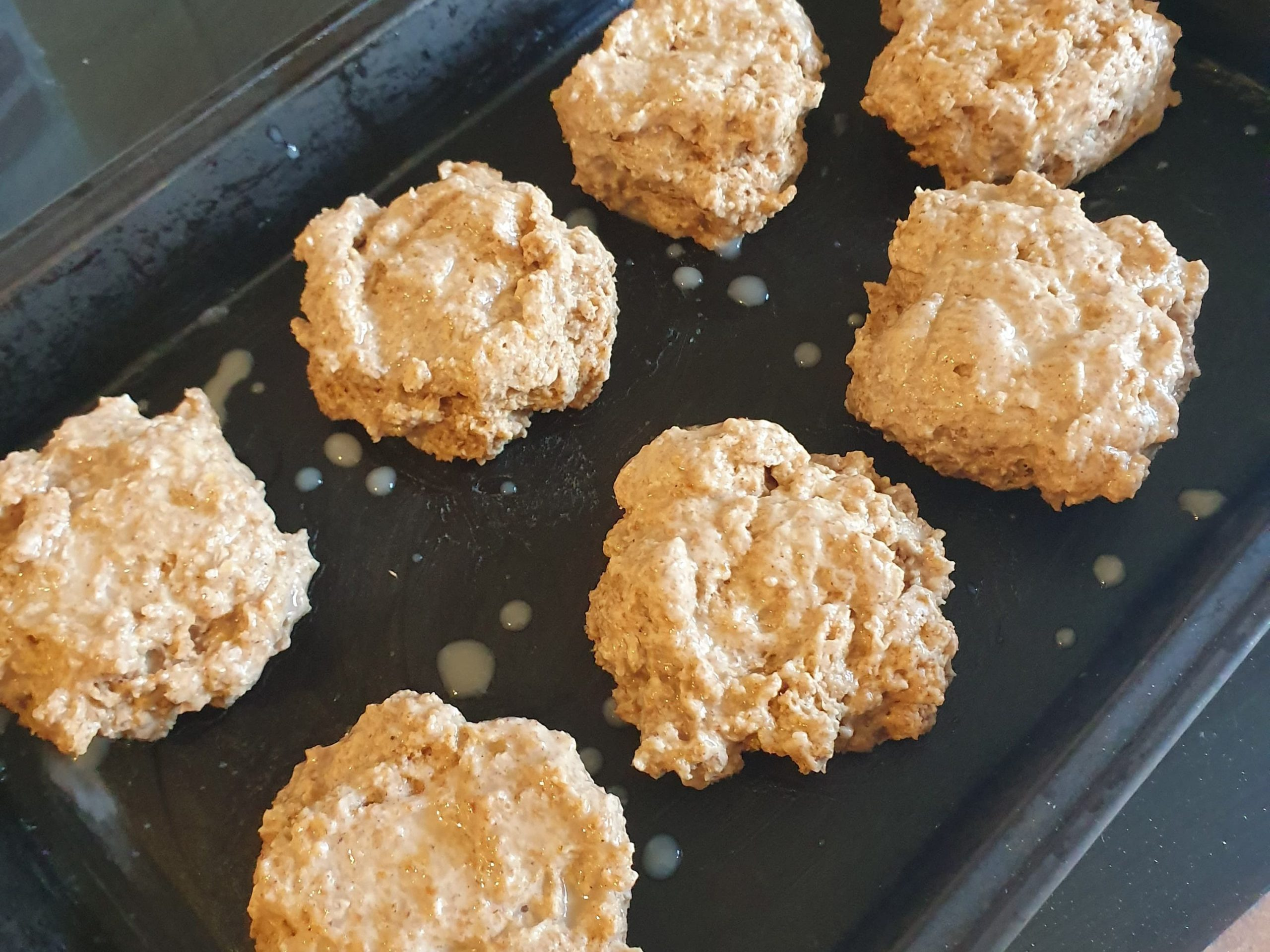 vegan pumpkin spice scones before they go in the oven