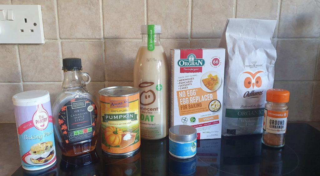 ingredients for pumpkin recipe