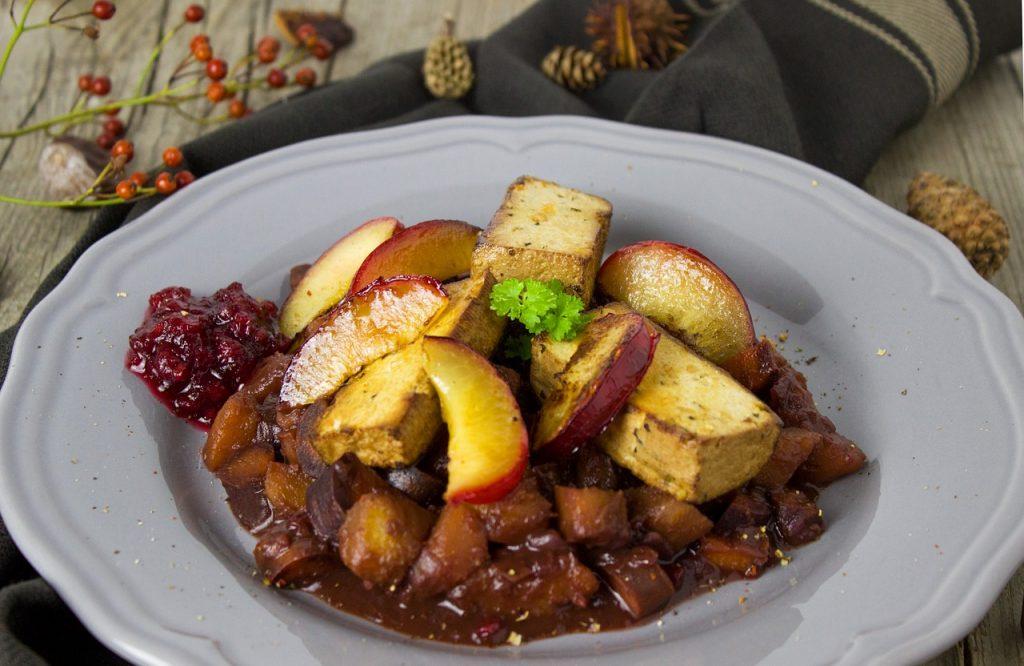 tofu dinner - vegan alternatives to turkey for christmas