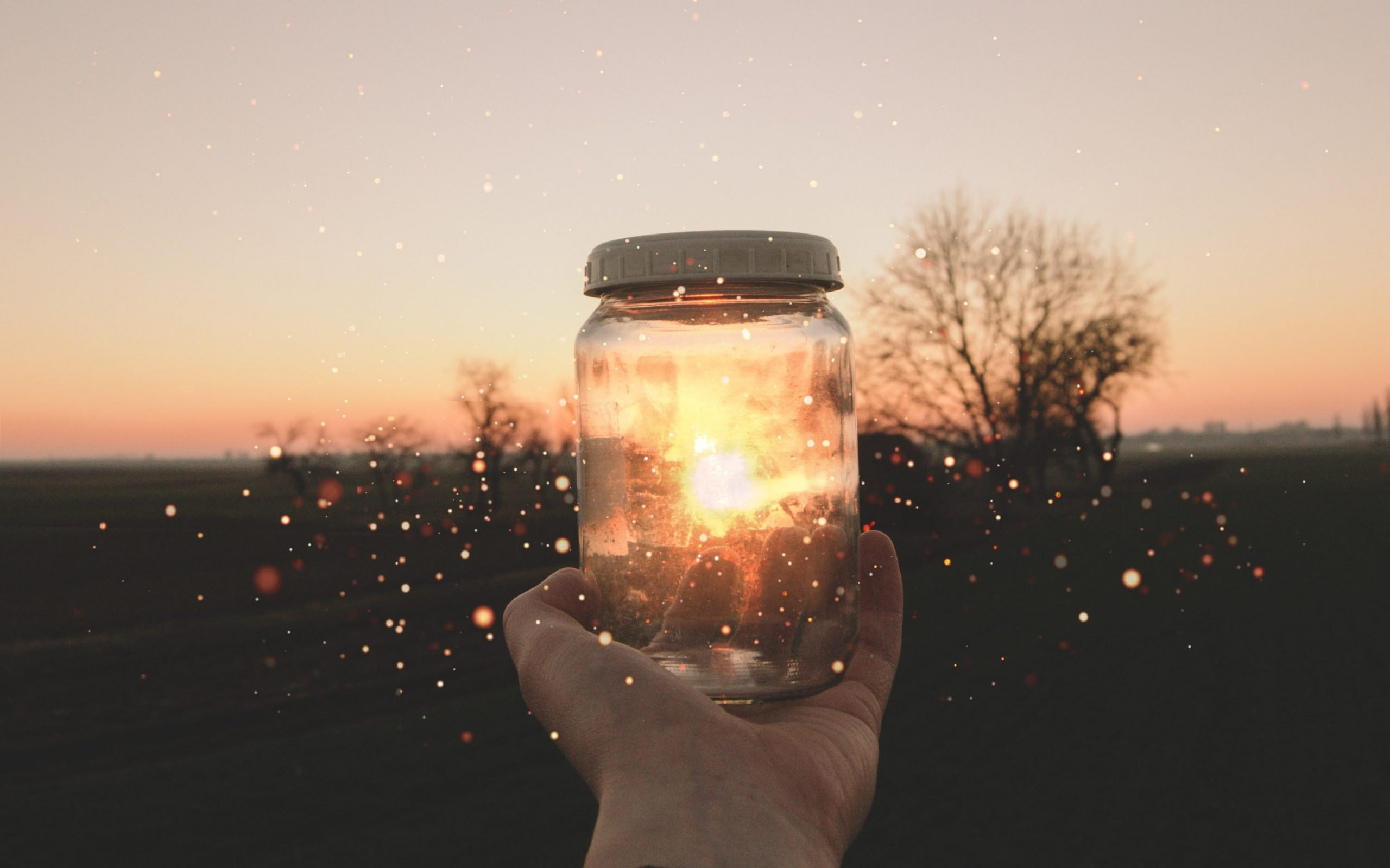 jar with light in it - self-care new years resolutions