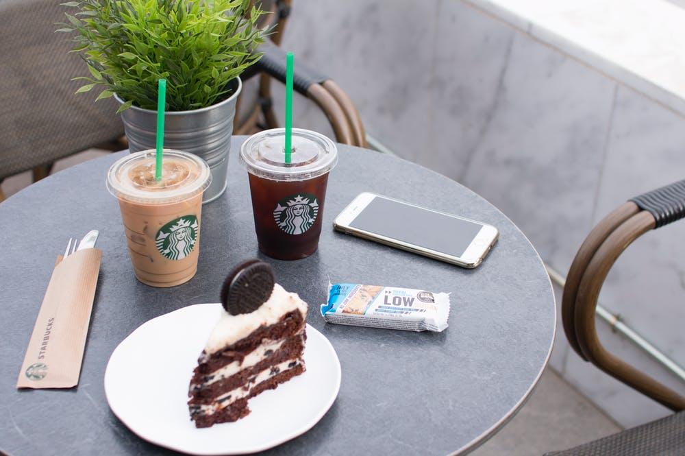 starbucks coffee and snacks